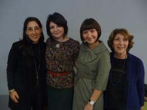 Jennifer Daniels, Elena Feldman, Vlada Nedak, and Linda Wasserstein