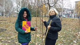 "One of many ""Trees of Peace"" planted in Zaporozhe, Ukraine, on November 19th"